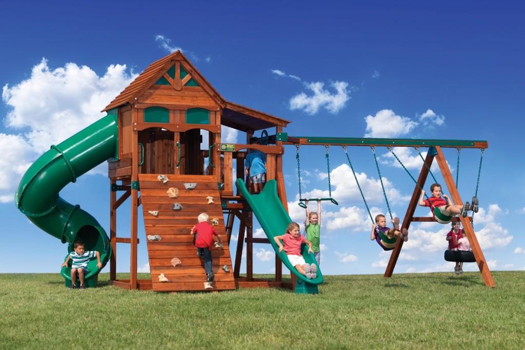 cabane portique enfant
