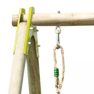 différents attachements portique en bois