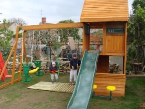 entretien portique bois