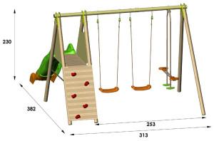 installer portique bois