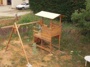 personalisation cabane portique bois