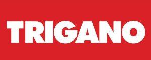 logo marque portique en bois avec toboggan Trigano
